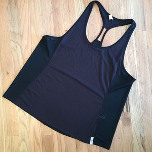 Under Armour black racerback mesh back tank top XL